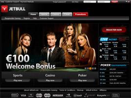 110% welcome bonus up to 600$ - JETBULL POKER Jetbull