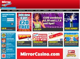 20 free play with mirror bingo for Mirror bingo